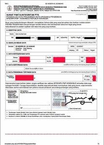 Contoh Surat Pakta Integritas PTK