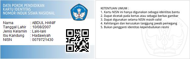 Cetak kartu nisn siswa langsung dari dapodik helper sekolah dasar kartu nisn tersebut dilengkapi dengan qr code yang menjadi bukti bahwa kartu tersebut adalah sah dan menjadi hak yang bersangkutan dan juga qr code stopboris Choice Image